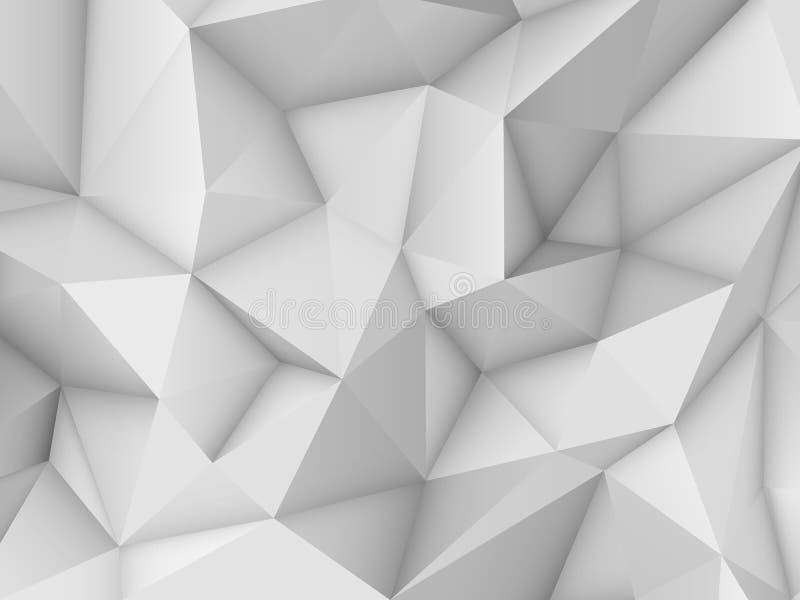 Biały Abstrakcjonistyczny Poligonalny tło royalty ilustracja