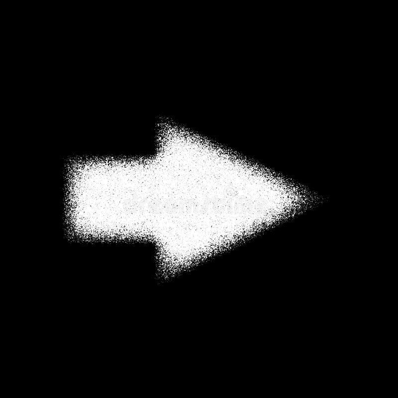Biały Abstrakcjonistyczny Prawej strzała znak ilustracja wektor