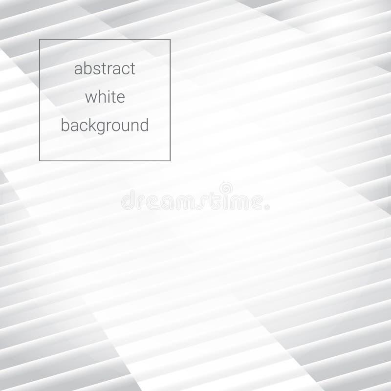 Biały abstrakcjonistyczny tło z lampasami i promieniami również zwrócić corel ilustracji wektora ilustracji