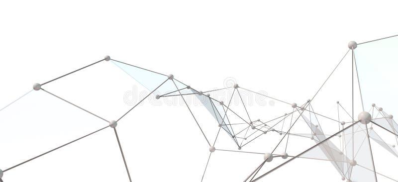 Biały Abstrakcjonistyczny technologii tło ilustracja wektor