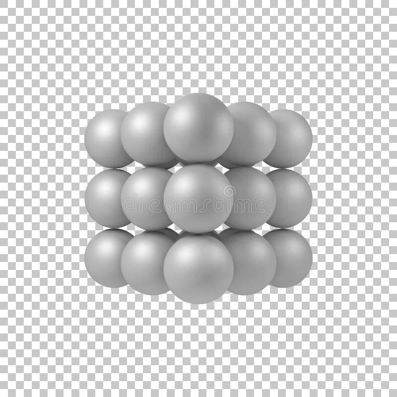 Biały abstrakta 3D kształt royalty ilustracja