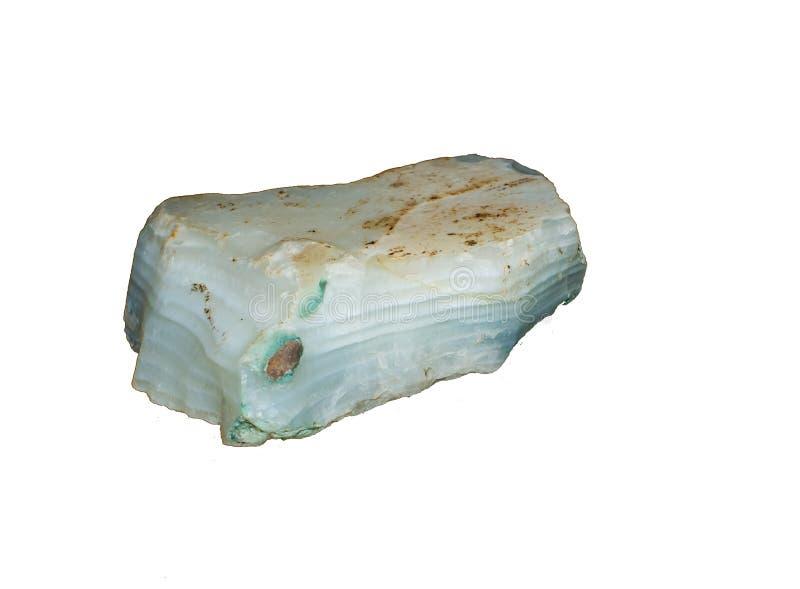 Biały agat Ablegrujący kamień zdjęcia stock