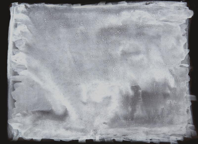 Biały akwareli muśnięcie, abstrakcjonistyczne farby muśnięcia plamy, biała inked brud plama splattered kiści pluśnięcia  ilustracja wektor
