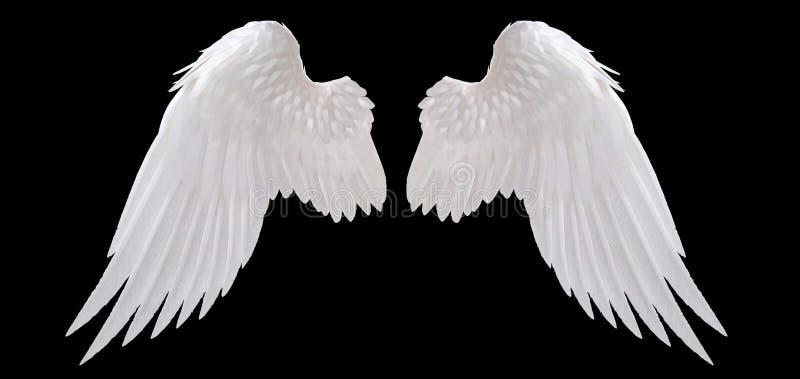 Biały anioła skrzydło ilustracja wektor