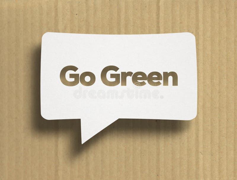 Biały bąbel z Iść Zielony tex obraz stock