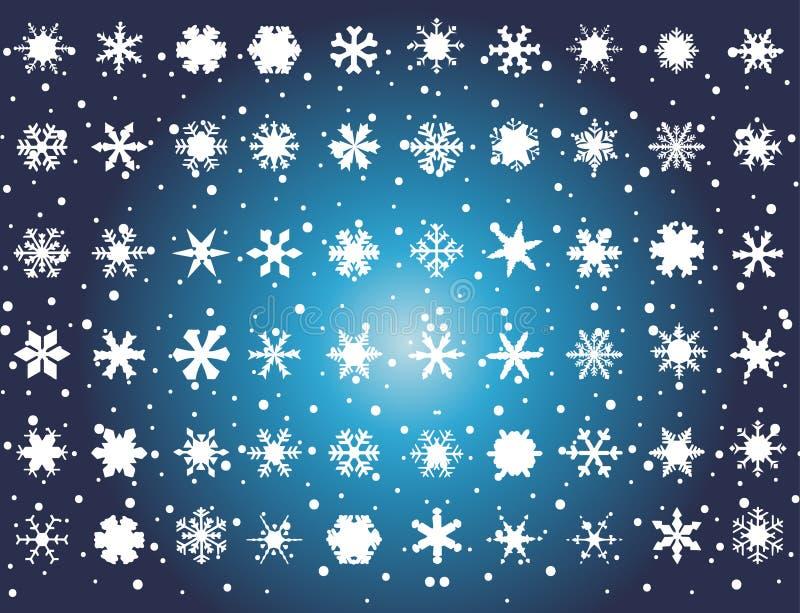 biały błękitny tło płatek śniegu ilustracja wektor
