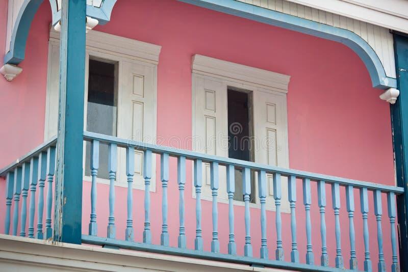 Biały balkon fotografia royalty free