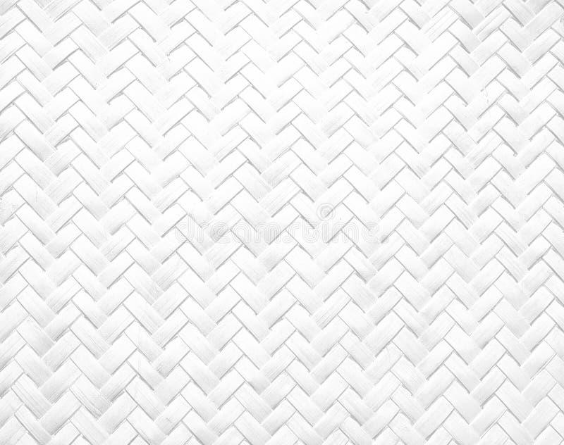 Biały bambusowy kosz obraz stock