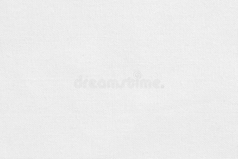Biały bawełnianej tkaniny tekstury tło, bezszwowy wzór naturalna tkanina obraz stock