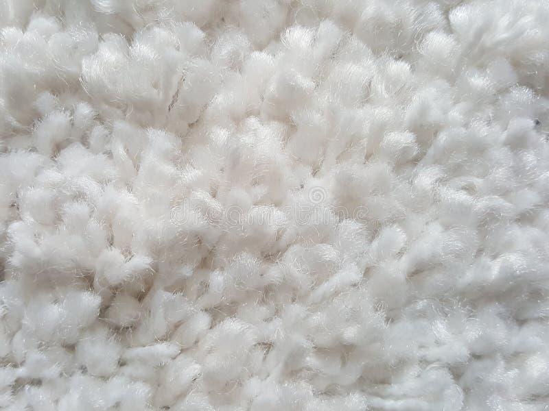 biały beżowy dywan miękka tekstura 1 fotografia royalty free