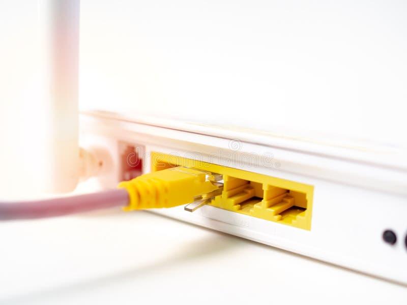 Biały bezprzewodowy interneta CC$FI router obrazy royalty free
