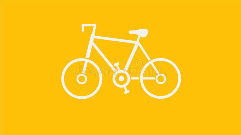 Biały bicykl obrazy royalty free