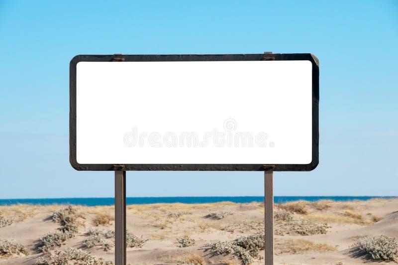 Biały billboard obrazy stock
