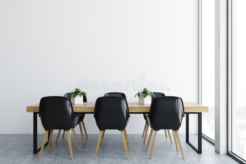 Biały biurowy jadalni wnętrze ilustracji