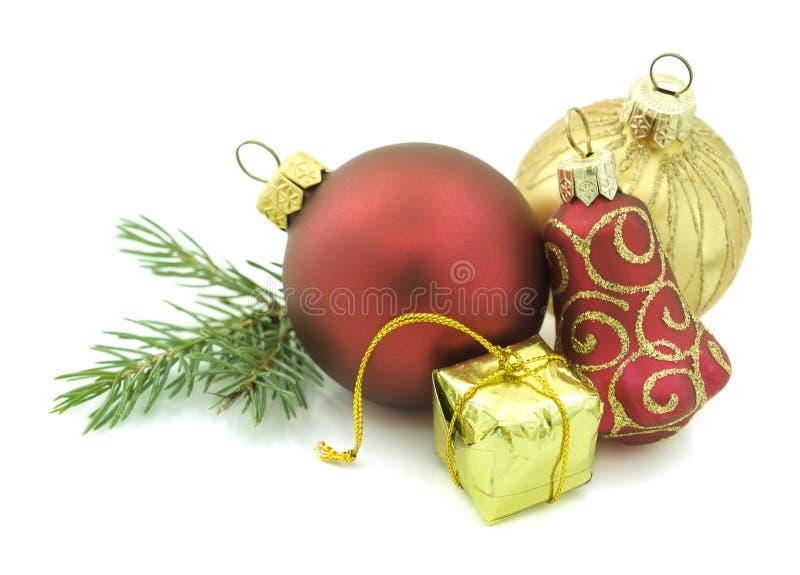 biały Boże Narodzenie ornamenty obraz stock