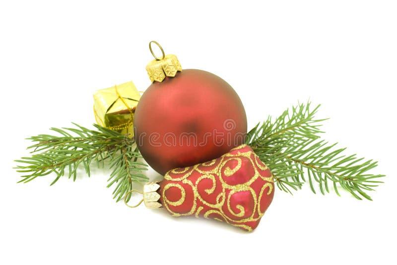 biały Boże Narodzenie ornamenty fotografia stock