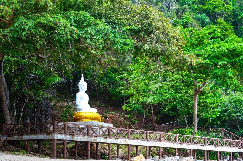 Biały Buddha zdjęcia royalty free