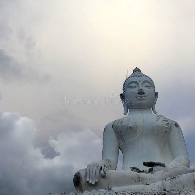 Biały Buddha Pai zdjęcie stock