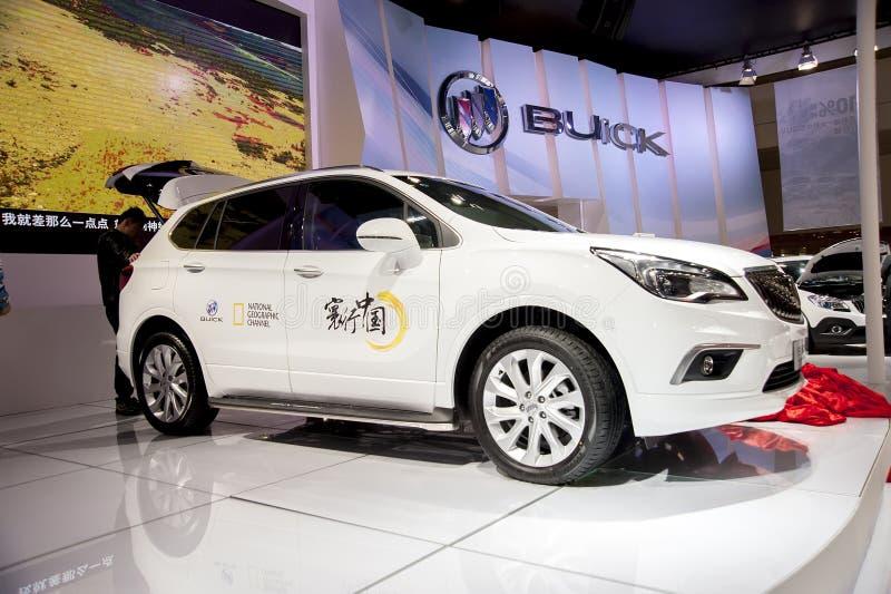 Biały buick wyobraża sobie samochód zdjęcie royalty free