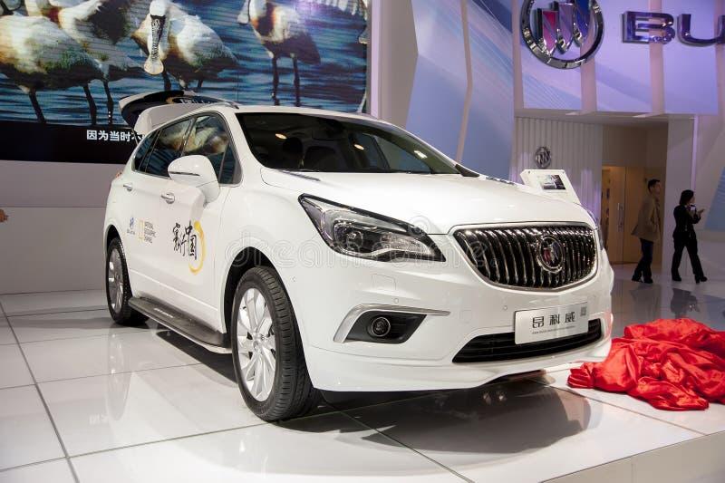 Biały buick wyobraża sobie samochód fotografia royalty free