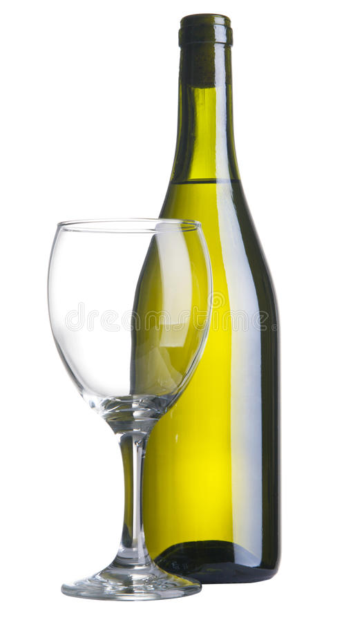 biały butelki wino obraz royalty free