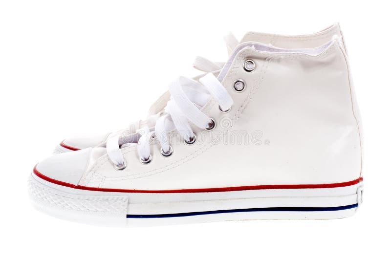 Biały buty fotografia royalty free