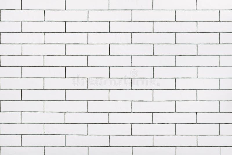 Biały ceramicznej płytki ściany tło obrazy stock