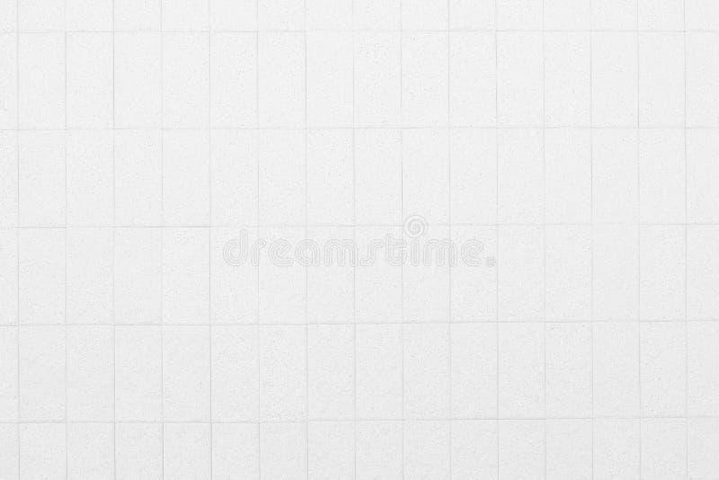 Biały ceramicznej płytki ściany tekstury ideał dla tła i używać w wewnętrznym projekcie zdjęcia stock