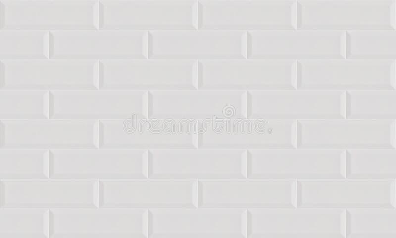 Biały ceramiczny cegły płytki ściany tło fotografia royalty free