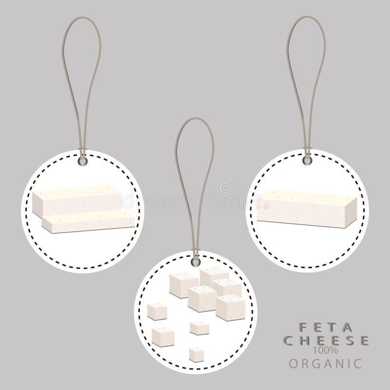 Biały chałupa sera Feta royalty ilustracja