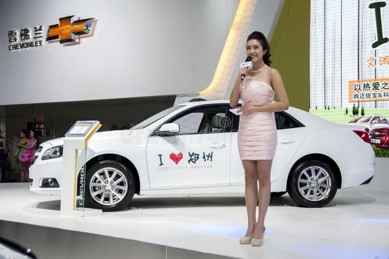 Biały chevroleta cruze samochód zdjęcie royalty free