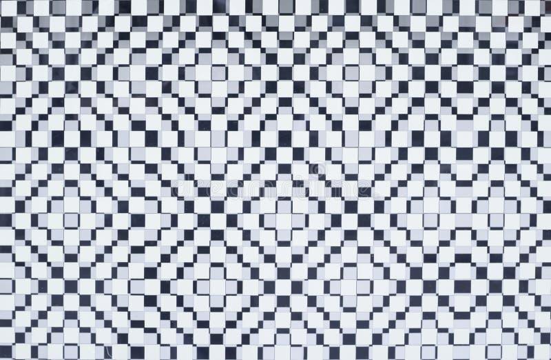 Biały ciosowy checker tło, tekstura zdjęcia stock