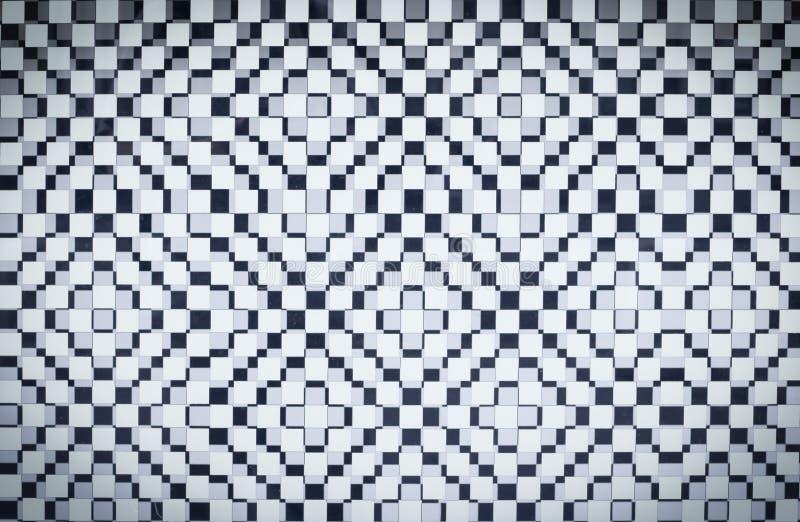 Biały ciosowy checker tło z winietą struktura fotografia stock