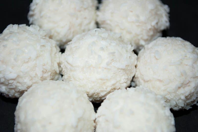 Biały cukierek z koksem zdjęcia royalty free
