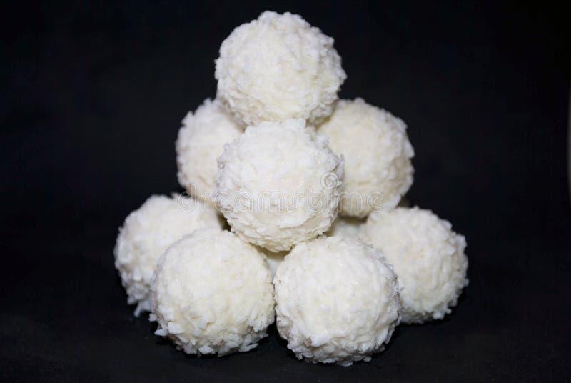 Biały cukierek z koksem fotografia royalty free