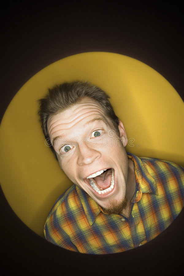 biały człowiek twarzy śmieszne zdjęcie stock