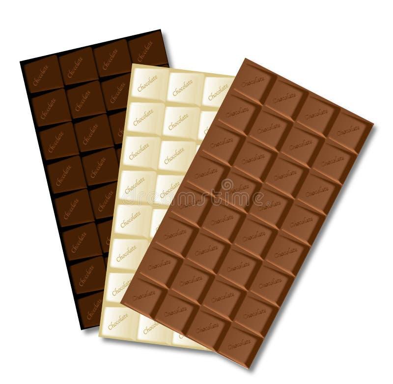 Biały czekoladowy bar royalty ilustracja
