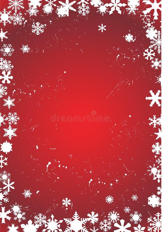 biały czerwoni tło płatek śniegu ilustracja wektor