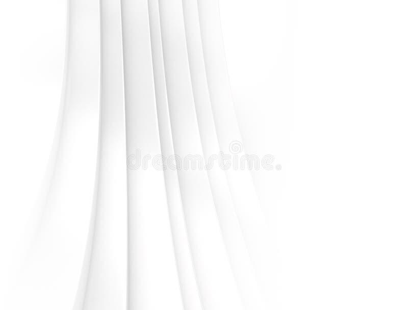 Biały 3d abstrakta tło royalty ilustracja