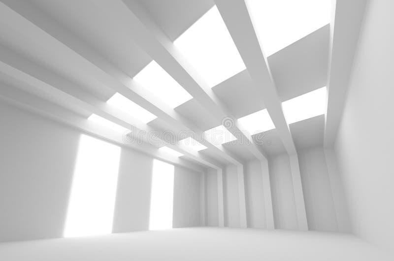 Biały 3d architektury abstrakcjonistyczny tło ilustracja wektor