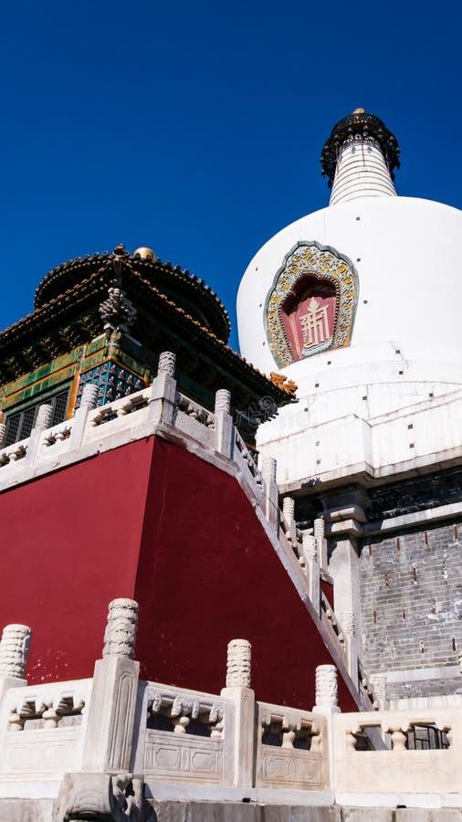 Biały dagoba w Beihai parku zdjęcia stock