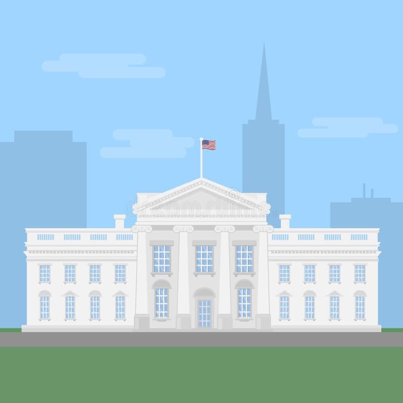 biały dom ilustracji