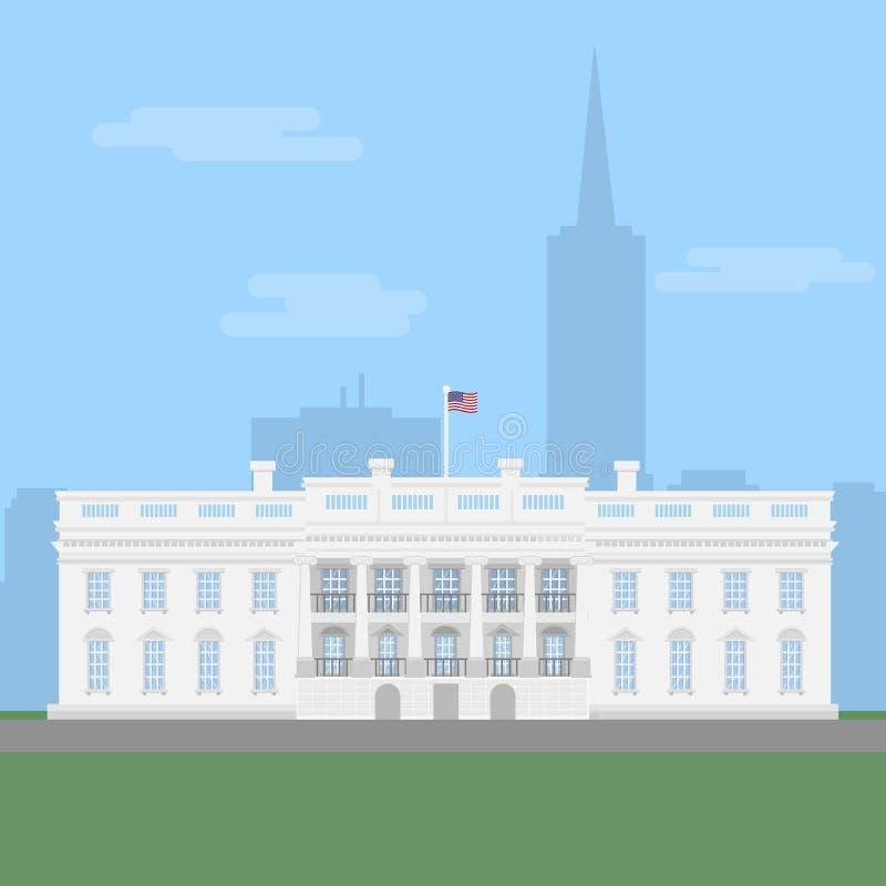 biały dom ilustracja wektor