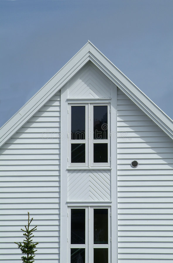 biały dom w drewniane obraz royalty free