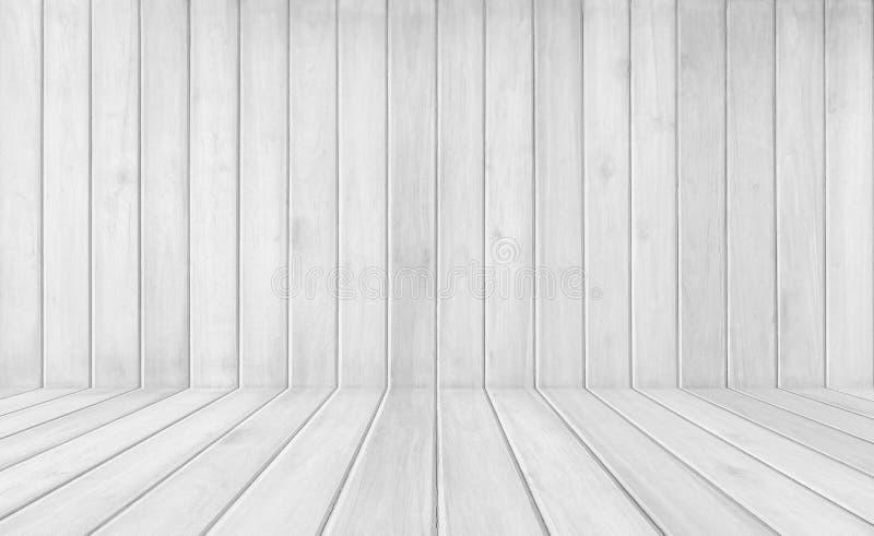 Biały drewniany tekstury tła puste miejsce dla projekta obraz stock