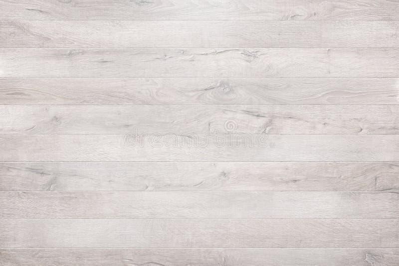 Biały drewniany tekstury tło, drewniany stołowy odgórny widok fotografia stock