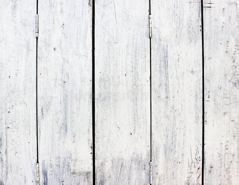 Biały drewno fotografia stock
