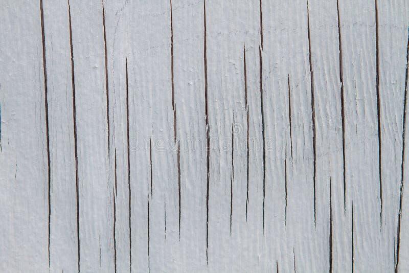 Biały drewno z pęknięcie teksturą fotografia stock