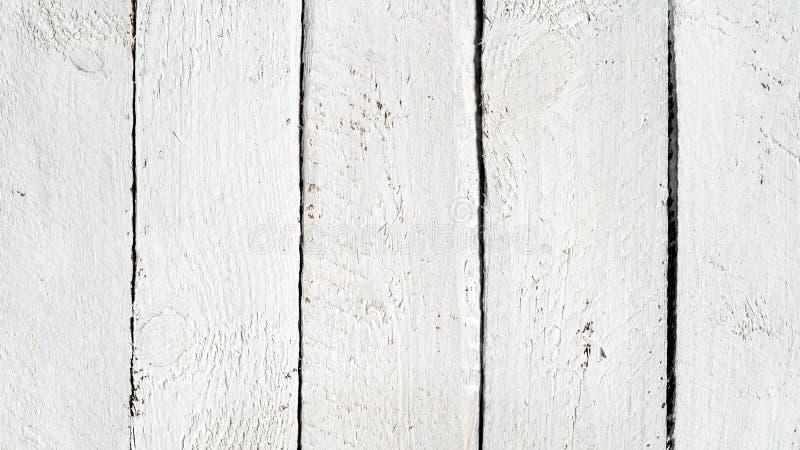 Biały drewno zaszaluje tło fotografia stock