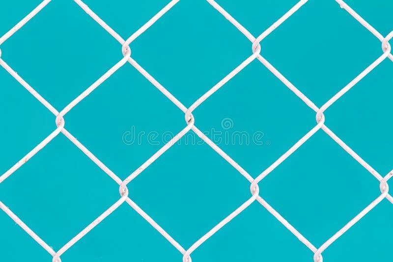 Biały druciany ogrodzenie zdjęcie royalty free